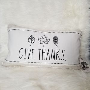 RAE DUNN Give Thanks Pillow NEW